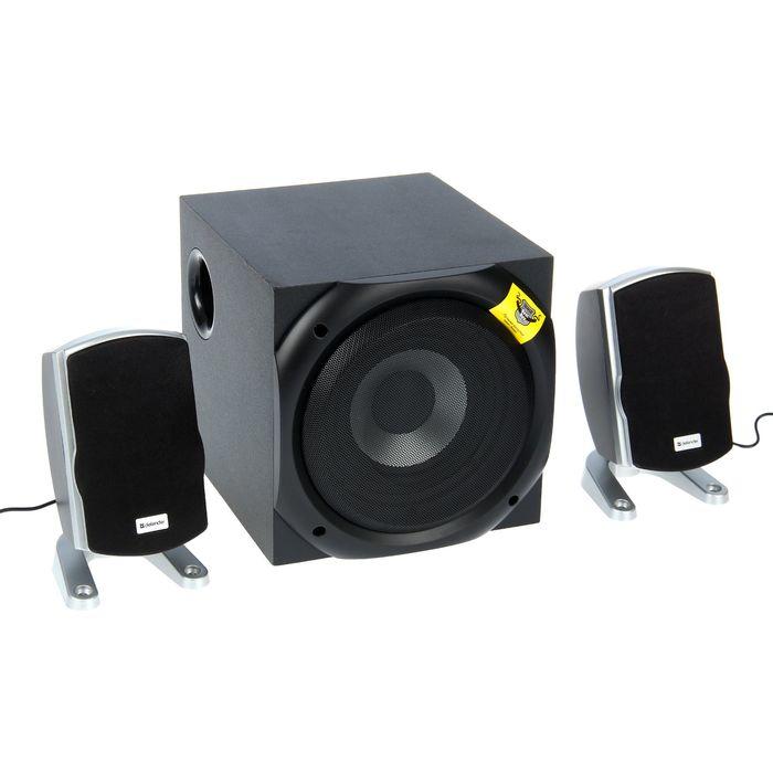 Акустическая система 2.1 DEFENDER I-Wave 45, 2х10Вт+25Вт, пульт ДУ, 220В, черные