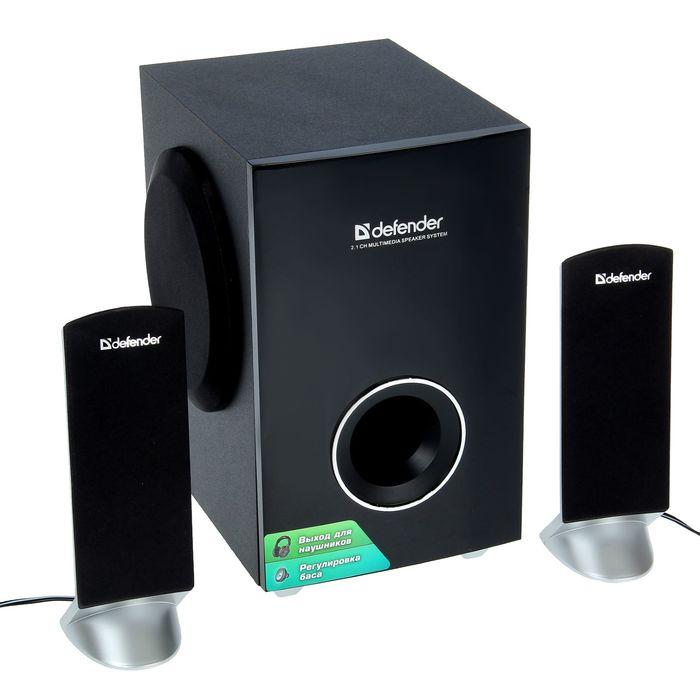 Акустическая система 2.1 DEFENDER I-Wave S20, 2х3Вт+14Вт, 220В, черные