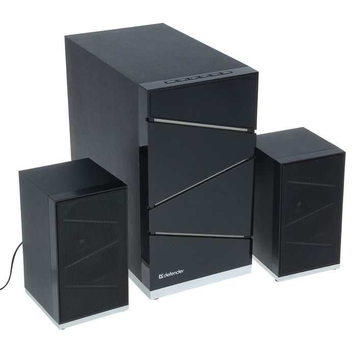 Акустическая система 2.1 DEFENDER G50, 2х12Вт+26Вт, MP3, FM, Bluetooth,пульт ДУ,220В,черные