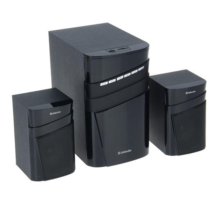 Акустическая система 2.1 DEFENDER X400, 2х12Вт+16Вт, MP3, FM,Bluetooth,пульт ДУ,220В,черные