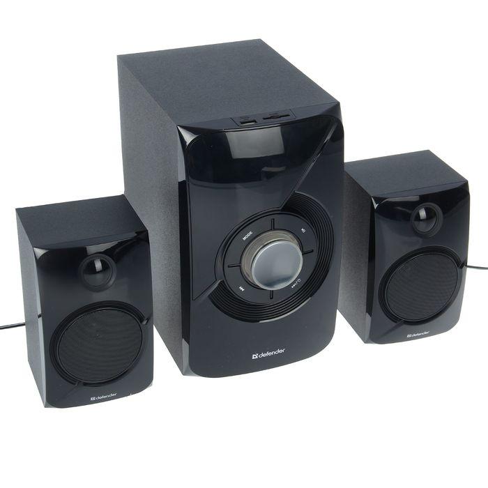 Акустическая система 2.1 DEFENDER X420, 2х12Вт+16Вт, MP3, FM,Bluetooth,пульт ДУ,220В,черные