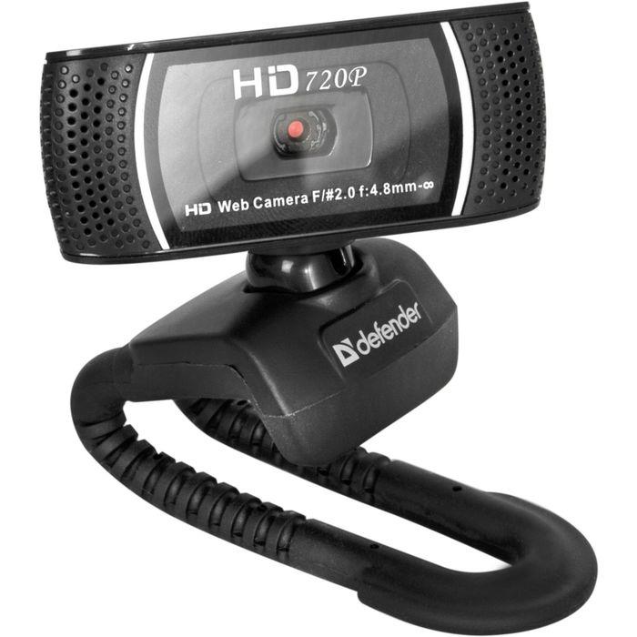 Веб-камера DEFENDER G-lens 2597, 2 МП, 1280 х 1024, HD720p, черная