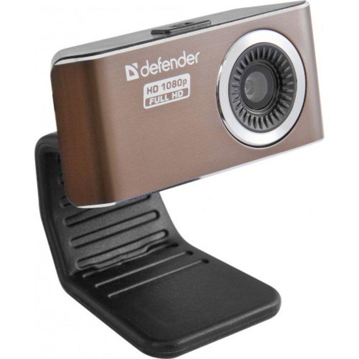Веб-камера DEFENDER G-lens 2693, 2МП, 1920 х 1080p, FullHD, коричневая