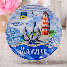 Тарелка с сублимацией 'Мурманск. Маяк. Морской стиль' Ош