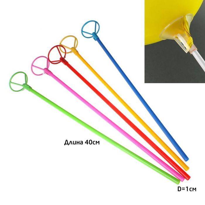 Трубочка+зажим для шаров, d=10 мм, длина 40 см 312087