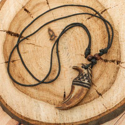 """Кулон мужской """"Орёл"""" длина 40-80см регулир-я, цвет коричнево-черный"""