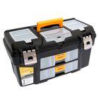 Ящик для инструментов ГЕФЕСТ 21' металл замки (с двумя консолями и секциями)