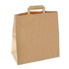 Пакет крафт без печати 32 х 17 х 32,5 см, с плоскими ручками