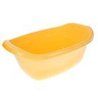 Таз 22 л овальный, цвет желтый