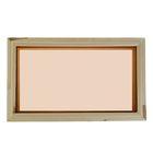 Окно глухое, 30х50см, двойное стекло, тонированное,