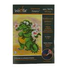 """Набор для изготовления картин из шерсти Woolla """"Влюбленный крокодил"""""""