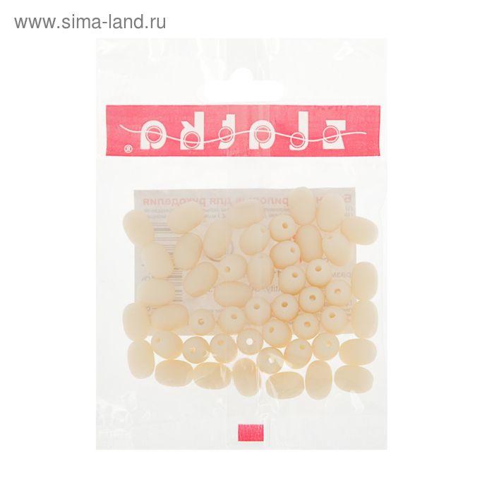 """Бусины """"Zlatka"""" акрил ARB 8x11мм  набор 50±2шт  (24 пастельно-персик.)"""