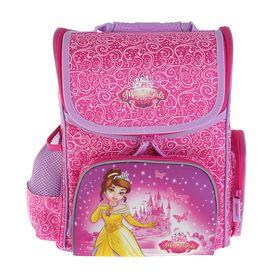 Ранец Стандарт Proff «Принцессы», для девочек, 31.5 х 24.5 х 13.5, розовый