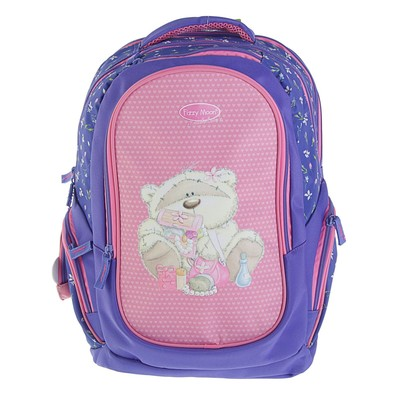 Рюкзак школьный эргономичная спинка для девочки Proff 38*29*18 Fizzy Moon, сиреневый/розовый FM17-BP-08