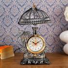 """Часы-светильник """"Оазис"""", золотистые, от сети, 30*17*17 см"""