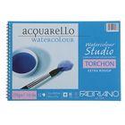 Альбом для акварели хлопок + целлюлоза A4 210*297 Fabriano Studio Torchon 12 листов 270г , гребень, торшон 72702129