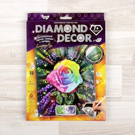 """Набор для создания мозаики """"Алмазная роза"""" DIAMOND DECOR, планшетка без рамки"""