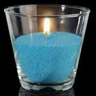 Свечной песок голубой 0,45кг + 3 фитиля