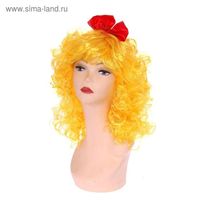 """Карнавальный парик """"Мальвина"""", кудрявый, цвет жёлтый"""