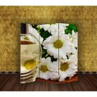 "Ширма ""Белые цветы"" 150х160см"