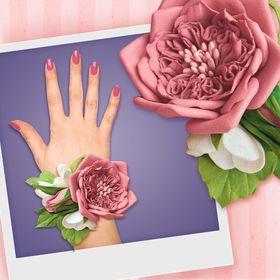 """Набор для создания браслета из фоамирана """"Пудровая роза"""""""