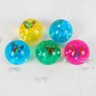 """Мяч световой """"Бабочка"""" с водой 6,5 см, цвета МИКС"""