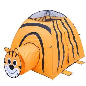 """Игровая палатка """"Тигр"""" с туннелем, цвет оранжевый"""