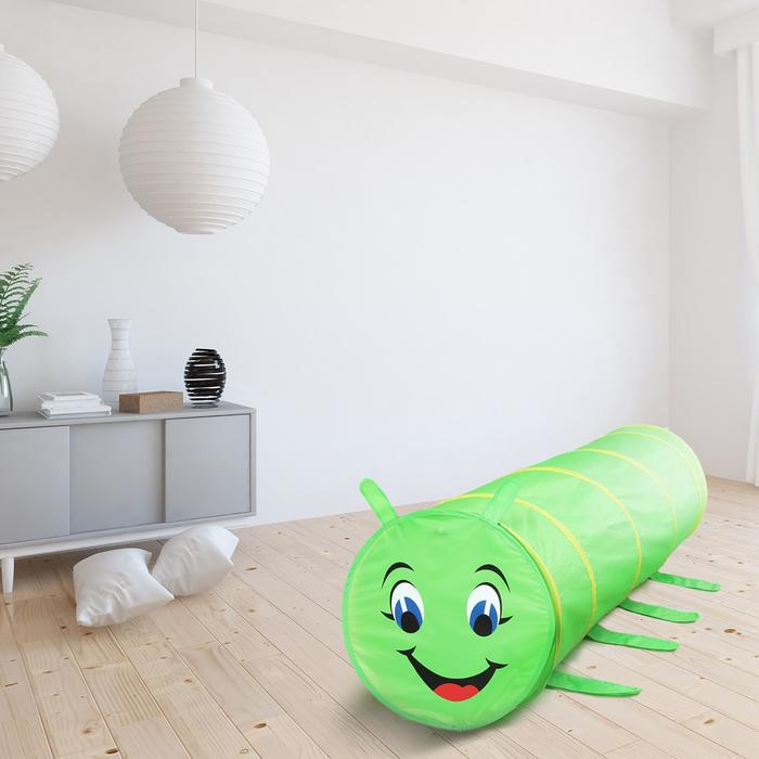 """Детский туннель """"Гусеничка"""", цвет зелёный"""