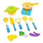 """Набор посуды """"Маленький шеф-4"""", с плитой и продуктами, 17 предметов"""