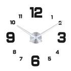 """Часы-наклейка DIY """"Объём модерн"""", цифры 3,6,9,12 большие, чёрные, 120см"""