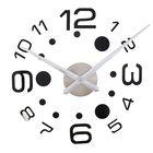Часы-наклейка DIY, цифры 3,6,9,12 большие, с точками, чёрные