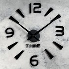 """Часы-наклейка DIY """"Секунды"""", чёрные, 120см"""