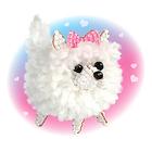 Набор для изготовления фигурки из пряжи «Маленькая собачка»: пряжа + бисер