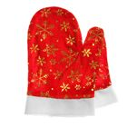 Варежки Деда Мороза со снежинками, цвет красный