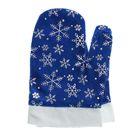 Варежки Деда Мороза со снежинками, цвет синий