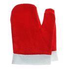 Варежки Деда Мороза, цвет красный