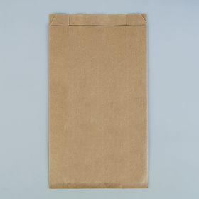 Пакет крафт бумажный фасовочный, V-образное дно 17 х 7 х 30 см Ош