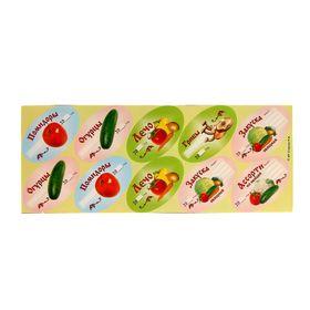 Набор цветных этикеток для домашних заготовок из овощей и грибов 30 шт, 6 х 3,5 см