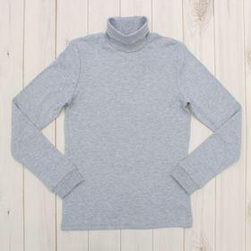 Водолазка для мальчика, рост 104 см, цвет серый меланж CAK 61163 Ош