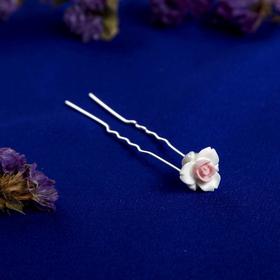 Шпилька для волос 'Пастель', лилия Ош