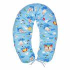 Подушка многофункциональная для беременных и кормящих женщин, цвет голубой «Овечки»
