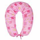 Подушка многофункциональная для беременных и кормящих женщин, цвет розовый «Жирафы»