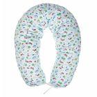 Подушка многофункциональная для беременных и кормящих женщин, чехол трикотаж, цвет голубой/зелёный