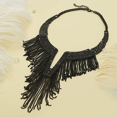 """Колье """"Египет"""", цепочки, цвет черный"""