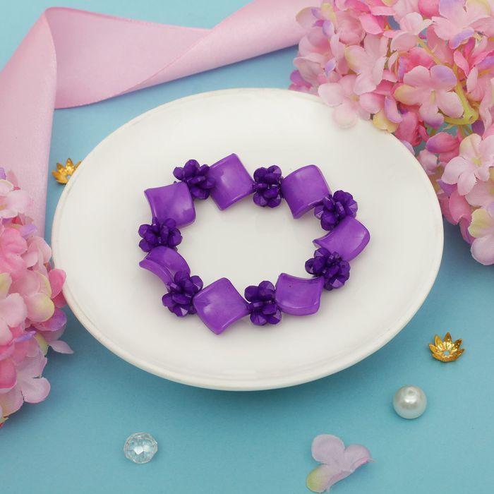 """Браслет """"Выбражулька"""" ромб гибкий, цвет фиолетовый"""