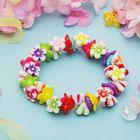 """Браслет детский """"Выбражулька"""" цветочная поляна, разноцветный"""