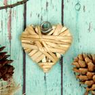 """Основа для творчества и декорирования """"Сердце"""" с подвесом, размер 1 шт 5*5 см, цвет бежевый"""