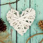 """Основа для творчества и декорирования """"Сердце"""" с подвесом, размер 1 шт 8*8 см, цвет белый"""