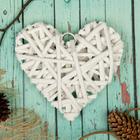 """Основа для творчества и декорирования """"Сердце"""" с подвесом, размер 1 шт 15*15 см, цвет белый"""