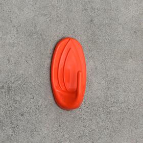 Крючок настенный, овальный, самоклеящийся, цвет МИКС Ош